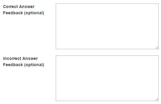 Add answer feedback. (Optional)