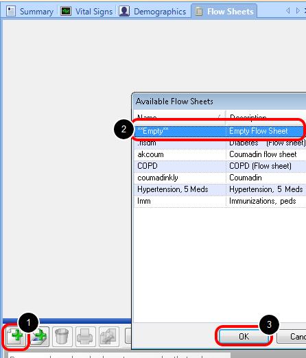 Open an Existing Flow Sheet - Create a New Flow Sheet