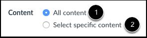 Select Migration Content
