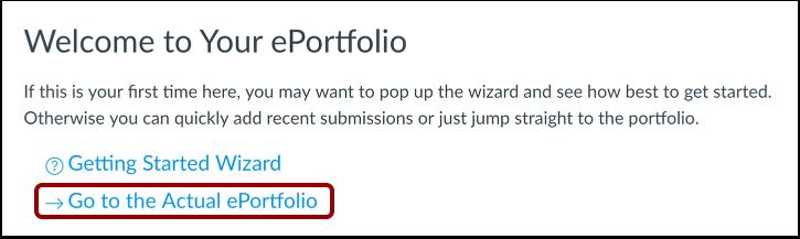 Go to ePortfolio
