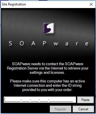 Registering SOAPware