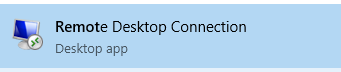 Access the Remote Desktop Connection