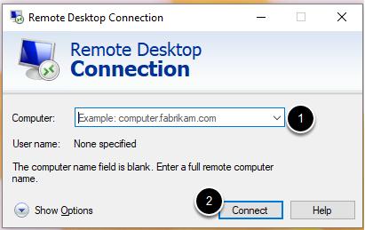 Enter the DNS (Domain Server Name)