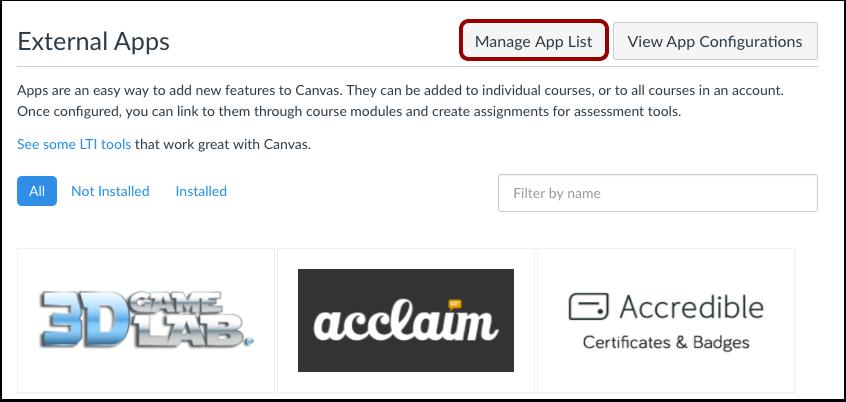 App-lijst beheren