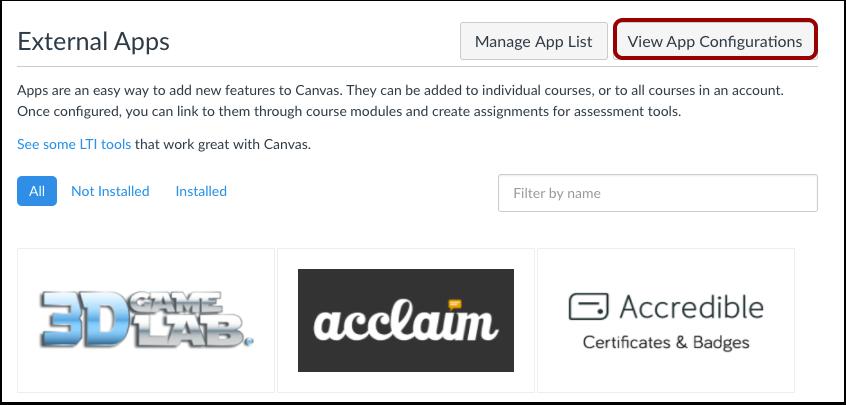 App-configuraties weergeven