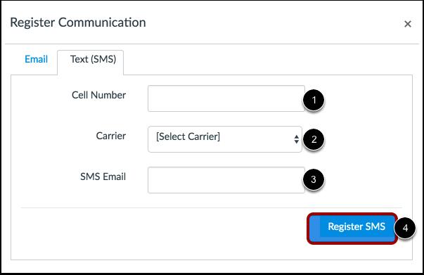 Registrar SMS: Estados Unidos