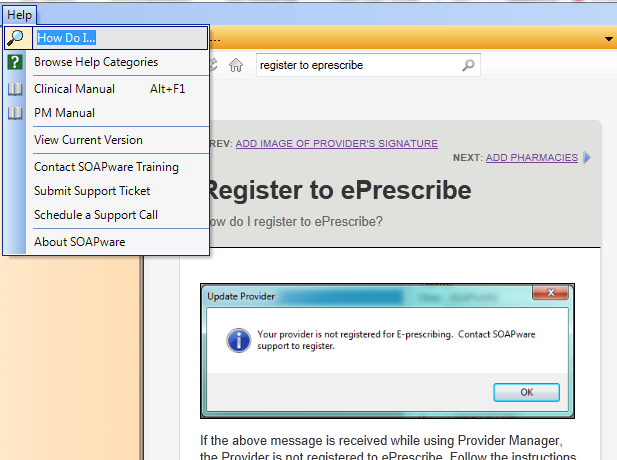 Step 1: Register to ePrescribe