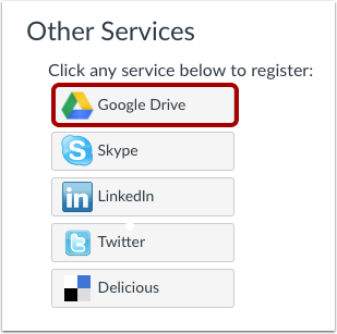 Register Google Drive