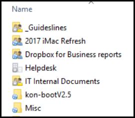 Dropbox Smart Sync folders