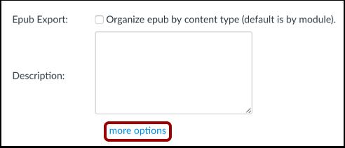 Abrir más opciones