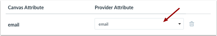 Select Provider Attribute