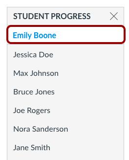 Escoger a un alumno (Select Student)