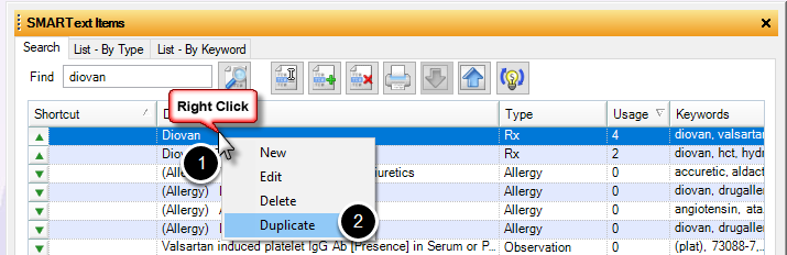 Duplicate the SMARText Item