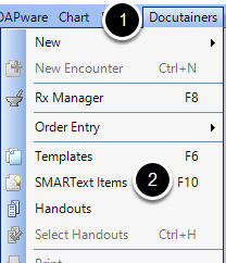 Access the SMARText Items Manager