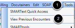 Access Encounter Viewer Dialog