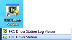 Starting the FRC Driver Station