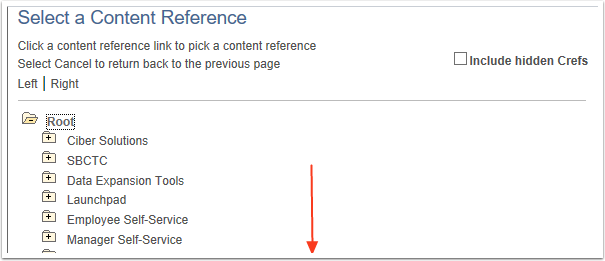 Select a Content Reference