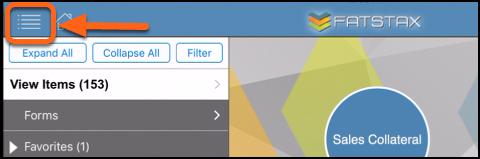 Open Settings within FatStax