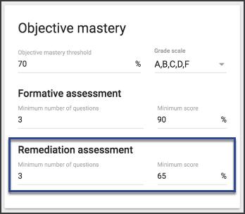 Configure passing criteria