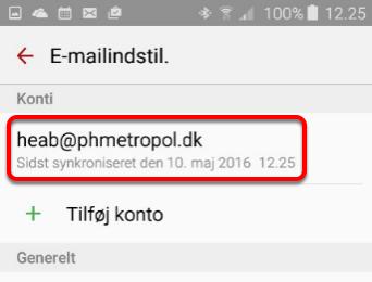4. Klik nu på din mailkonto