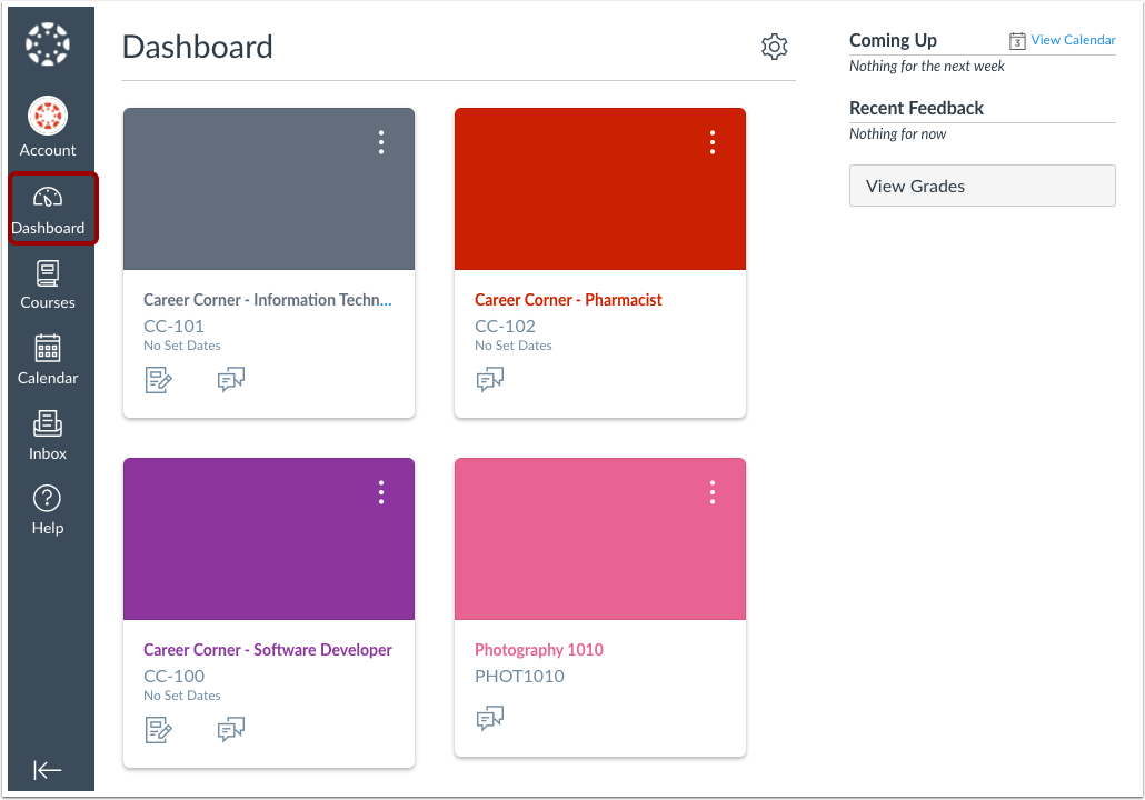 View Canvas Dashboard