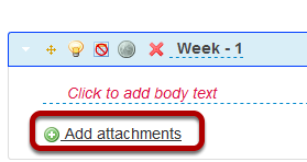 Add an attachment to this syllabus item.