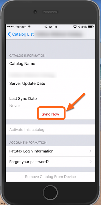 """Tap """"Sync Now"""""""