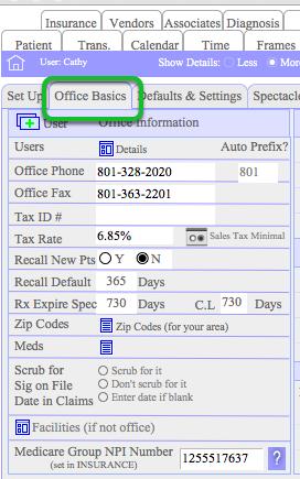 Preference > Office Basics
