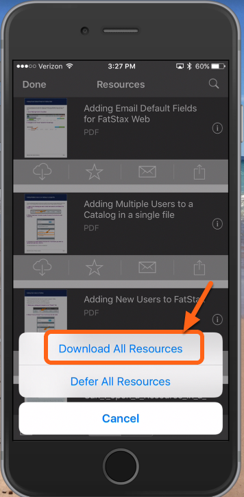 "Tap ""Download All Resources"""