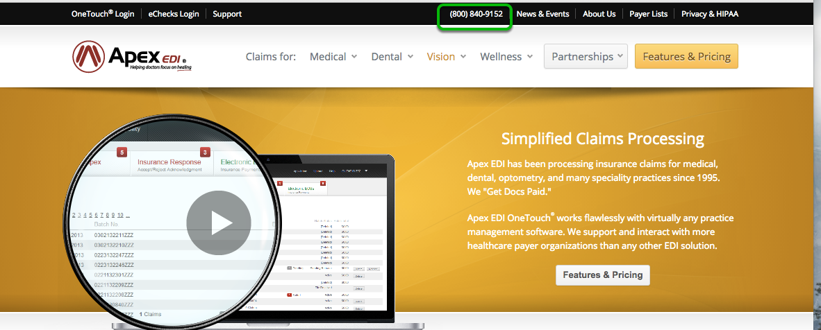 Process Your Vision/Optometry Claims Electronically