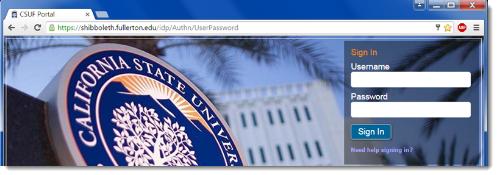 CSUF Portal page