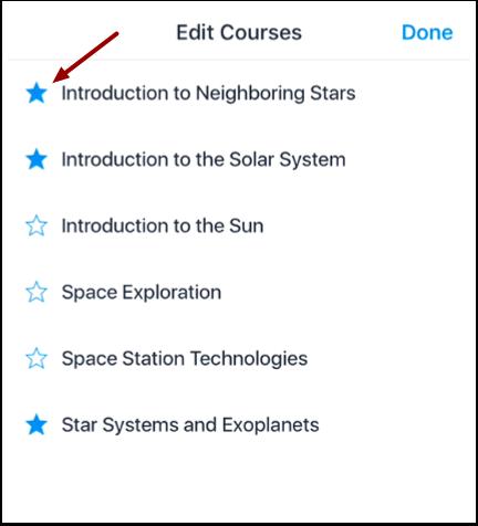 Edit Courses