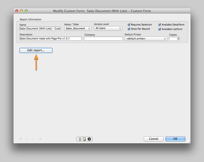 Modify the Custom Form