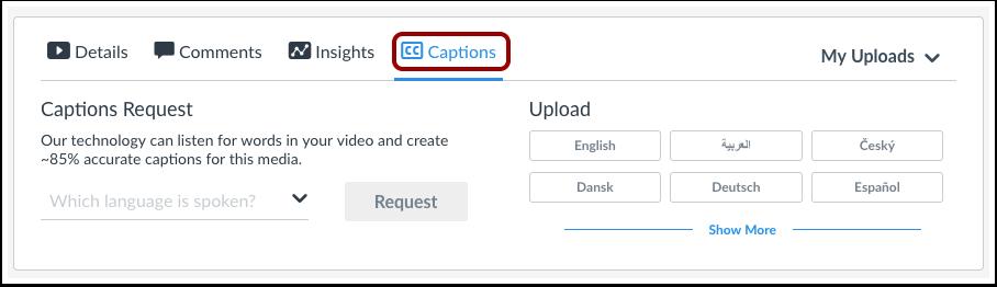 Add Captions