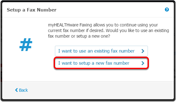 (b) Create a New Fax Number