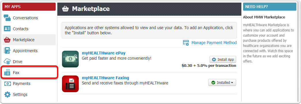 myHEALTHware Faxing is Installed and Ready for Use!