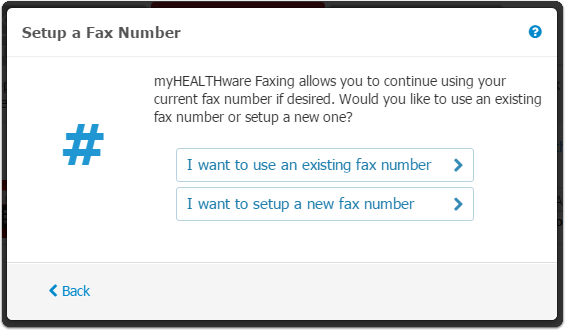 4. Setup a Fax Number