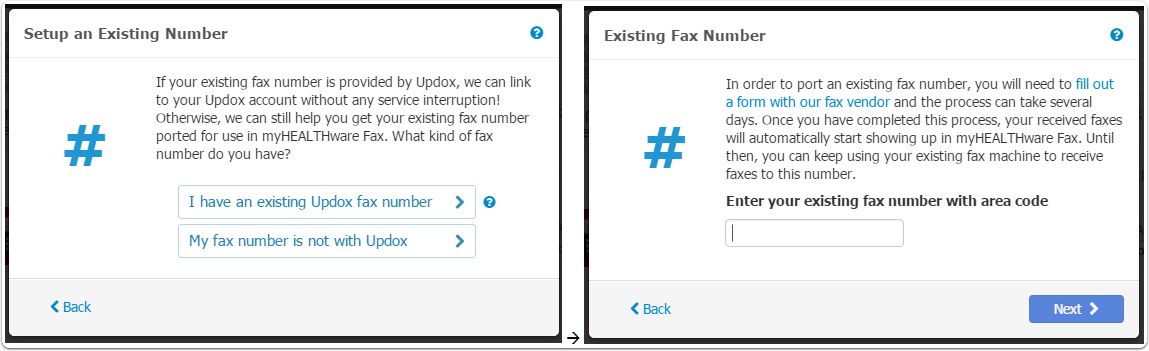- Other Existing Fax Number