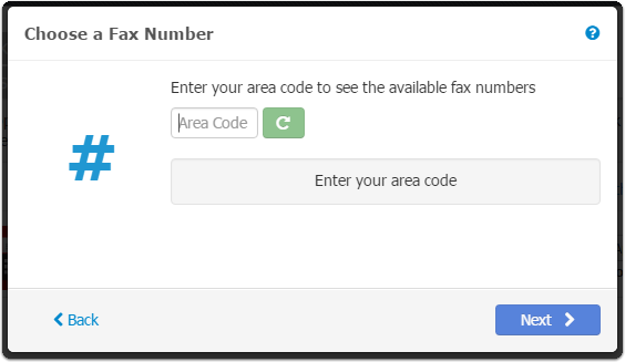 - Choose a Fax Number