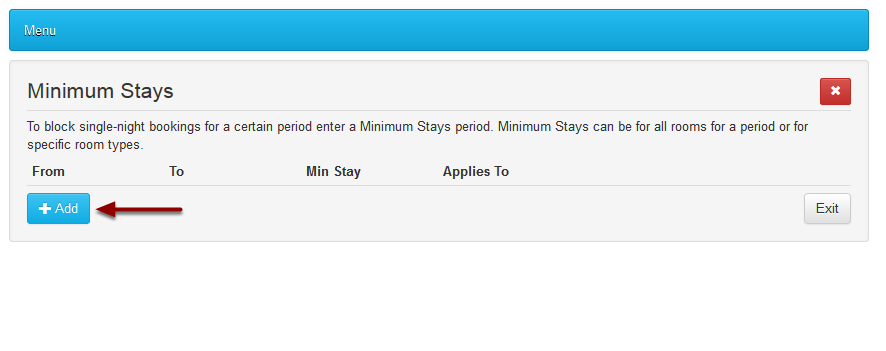 Click on Add Minimum Stay