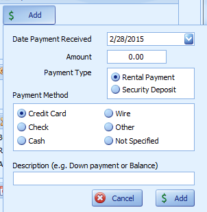 Add Payment Manually