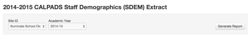 SDEM Requirements