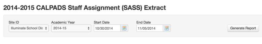 SASS Requirements