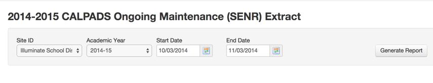 SENR Requirements