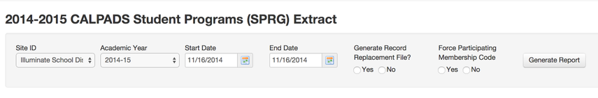 SPRG Requirements