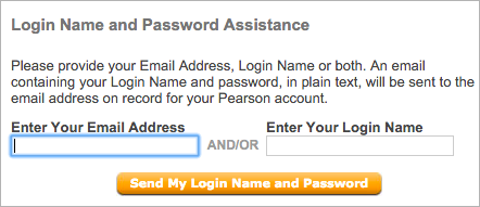 "If you forgot your username or password, click ""Forgot your Login Name or Password?"""
