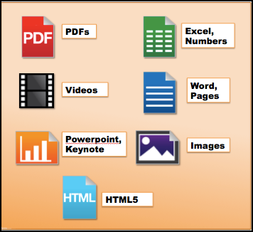 File types and icons