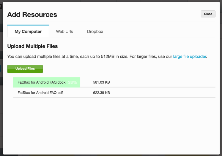 5. The Resource File will upload