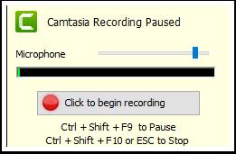 Recording panel