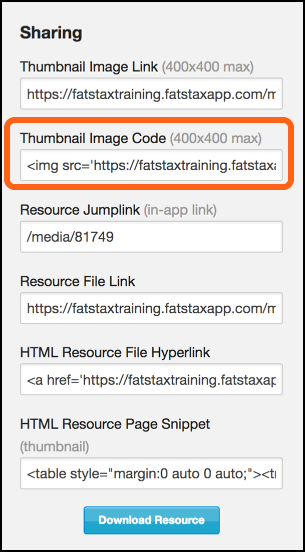 Thumbnail Image Code